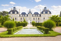 View of Cheverny Chateau  from apprentice's garden, France