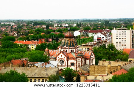 View of city Subotica,Serbia.Subotica is second town in the region of Vojvodina #1225915411
