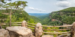 View of Cloudland Canyon State Park south of Lookout Mountain, Georgia near Chattanooga, Tennessee.