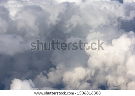 View of cloudscape during flying on plane #1506816308