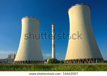 View of coal power-plant