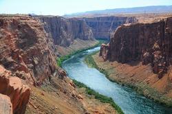 View of Colorado River, Page, Arizona, US
