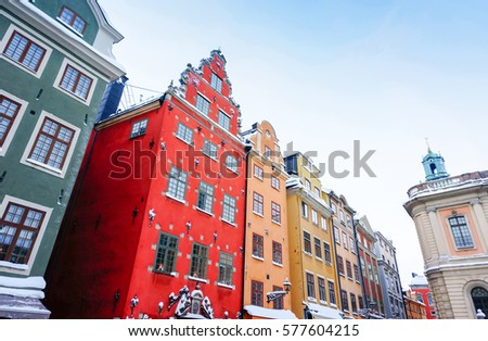 view of colorful building of...