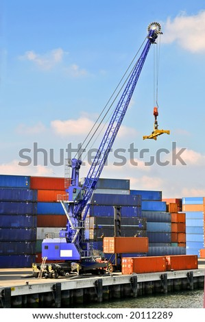 View of containers