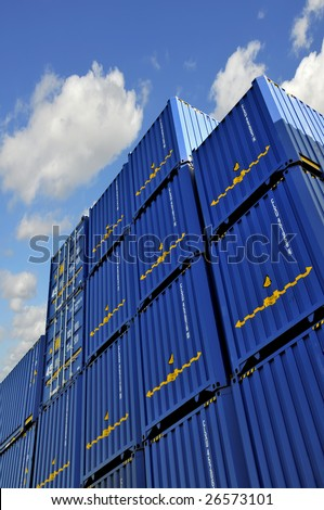 View of containters