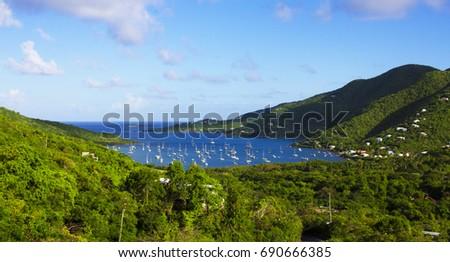 View of Coral Bay in Saint John US Virgin Island
