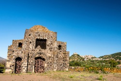 View of Cuba di Santa Domenica near Castiglione di Sicilia