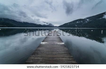 view of Cultus Lake, British Columbia, Canada Foto stock ©