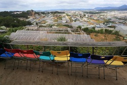 view of  dalat city in vietnam