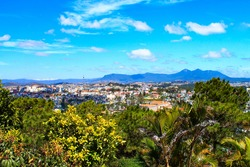 View of Dalat, Vietnam. Dalat is located in the South Central Highlands of Vietnam
