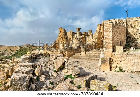 view of dougga  an ancient...