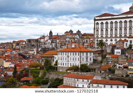 view of Douro river at Porto, Portugal