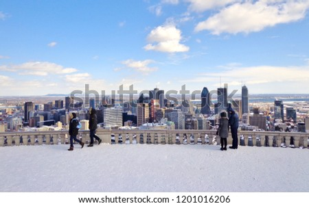 View of Downtown Montreal, Canada (Winter)