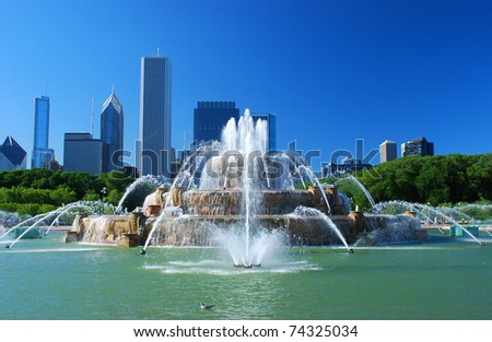 Stock Photo View of Downtown of the city of Chicago