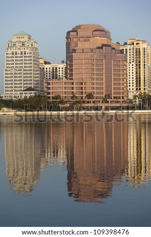 View of downtown West Palm Beach, FL, USA