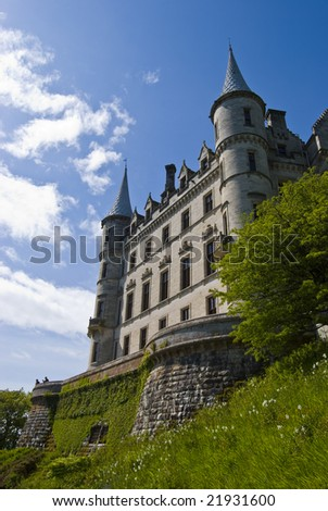 view of Dunrobin Castle in Scotland, UK