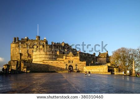 view of edinburgh castle in...