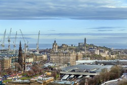 View of Edinburgh from catle hill, Scotland