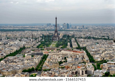 View of Eifel Tower from Montparnasse Tower #1566537415