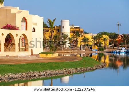 View of El Gouna resort. Egypt, North Africa