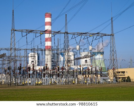 view of electrical substation
