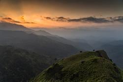 View of Ella Rock from Little Adam's Peak, Sri Lanka