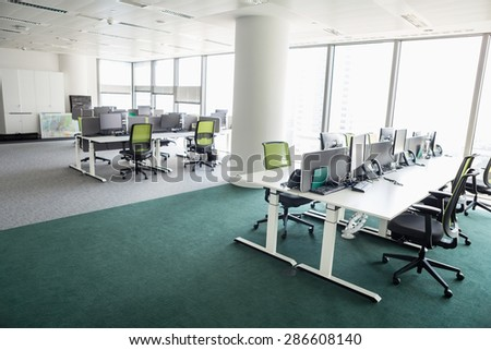 View of empty office