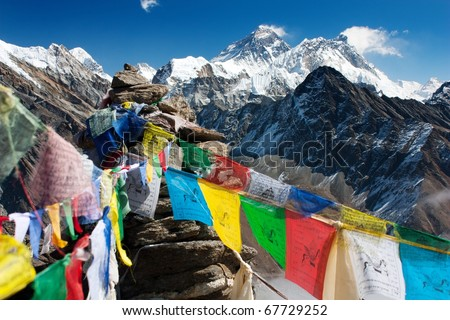 view of everest from gokyo ri