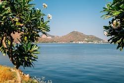 View of Fateh Sagar Lake in Udaipur, India