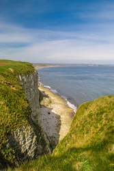 View of Filey bay from the op of Buckton Cliffs