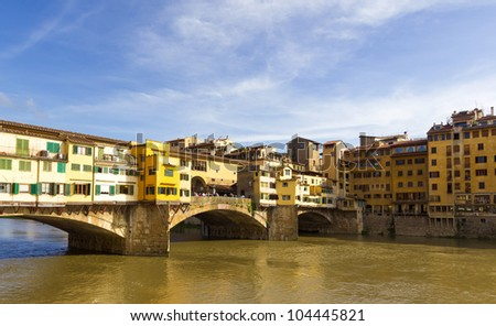 View of Florence from the Arno river