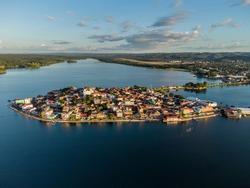 View of Flores Island, Peten, Guaremala