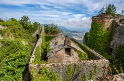 View of Forte Sperone (Fort Sperone) , one of the most important and better preserved structures of the fortifications of Genoa, Italy.