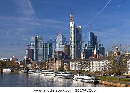 View of Frankfurt am Main Germany