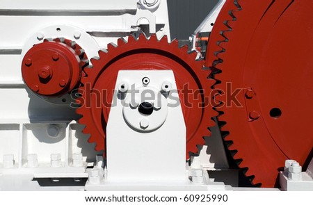 view of gears from mechanism