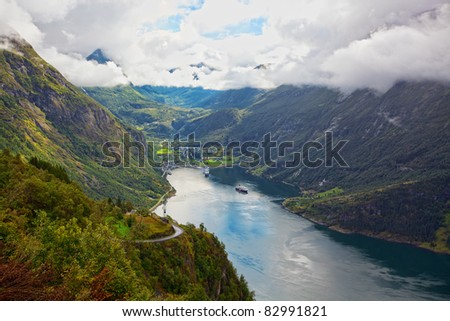 View of Geiranger