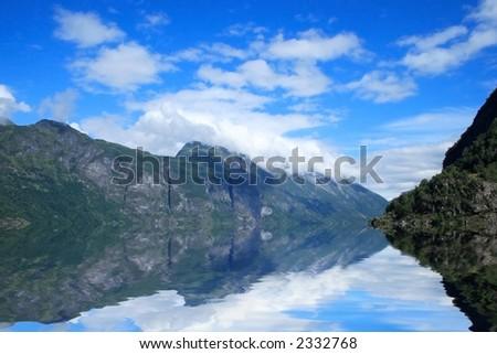 View of Geirangerfjord in Norway, Europe