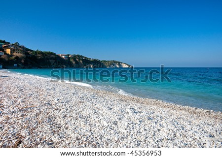 View of Ghiaie beach, Portoferraio  Isle of Elba, Tuscany, Italy.