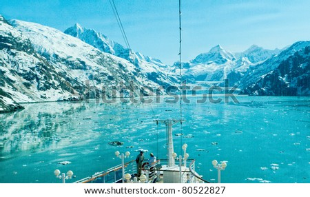 View of Glacier Bay from a Cruise Ship, Alaska
