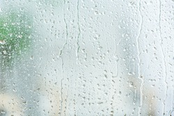 View of glass with water drops, closeup
