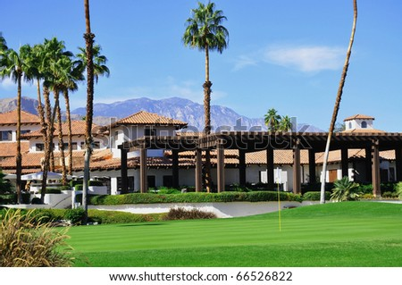 View of Golf Resort in Palm Springs California