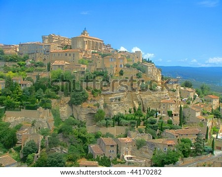 View of Gordes, medieval hilltop town in the south of France