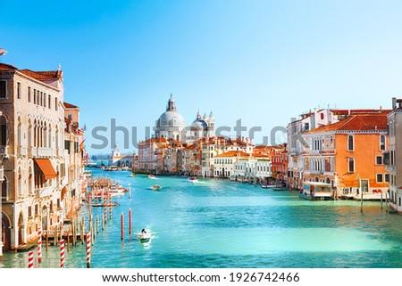 View of Grand Canal and Basilica Santa Maria della Salute in Venice Сток-фото ©
