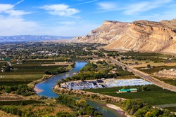 View of Grand Junction, Colorado With the Colorado River