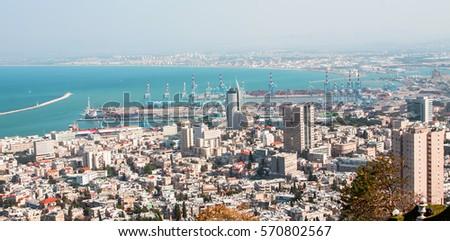 View of Haifa from the Bahai garden