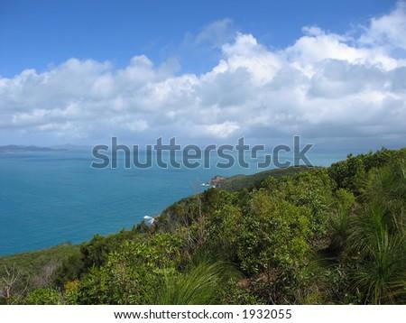 View of Hamilton island (Queensland, Australia)