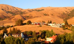 View of hills in Fremont, California