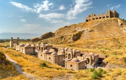 View of Hisor Fortress in Tajikistan, Central Asia