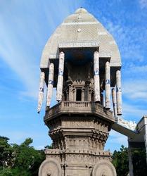View of historical valluvar kottam in Tamil Nadu.Historical place valluvar kottam located in chennai
