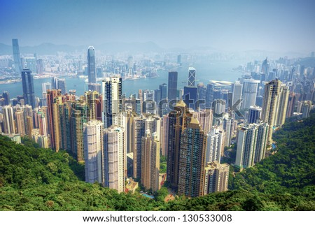 View of Hong Kong from Victoria Peak.
